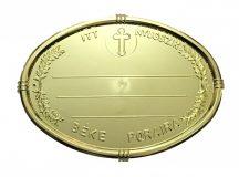 Arany olvális sírtábla - keresztes