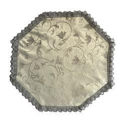 Urnahordozó takaró - tulipános ezüst